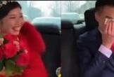 Clip: Chú rể bật khóc nức nở khi thấy nhan sắc cô dâu trong ngày cưới