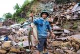 Đổ xô bắt cá dưới tràn xả lũ hồ Kẻ Gỗ