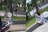 Hình ảnh cô gái ngồi một mình hút bóng trên vỉa hè ngày 20/10 khiến MXH xôn xao