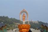 Một trong những tượng Phật cao nhất thế giới dát 48 kg vàng