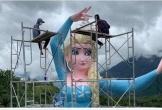 Dân mạng chỉ trích bức tượng Elsa mới xây ở Sa Pa