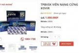 Viên nang Kovir tăng giá chóng mặt rồi khan hiếm sau khi lọt 'danh sách 12 sản phẩm hỗ trợ điều trị COVID-19'