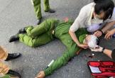 Đại úy công an bị đâm dao vào cổ