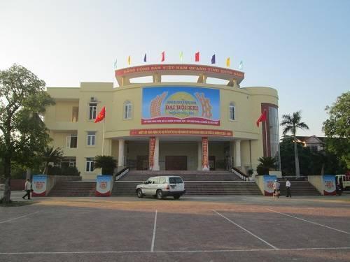 Nhà văn hóa Nguyễn Du- Nơi sẽ diễn ra Đại hội Đảng bộ huyện Nghi Xuân khóa XXI