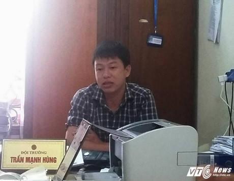 Ông Trần Mạnh Hùng – Đội trưởng đội thuế phường Bắc Hà
