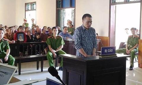Bị cáo Phan Đình Quân tại phiên tòa sơ thẩm.
