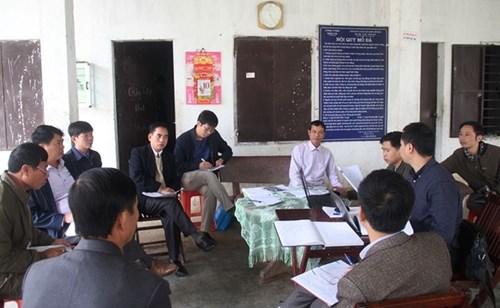 Đoàn liên ngành tỉnh Hà Tĩnh yêu cầu Công ty Ngọc Hải trước mắt phải dừng ngay việc sử dụng vật liệu nổ để đảm bảo an toàn cho nhân dân và để chờ kết luận của tỉnh. Ảnh PV