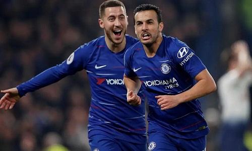 Pedro thi đấu năng nổ và được chọn là cầu thủ hay nhất trận. Ảnh: Reuters.